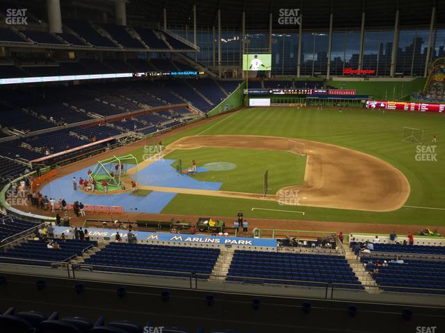 Marlins Park Section 209 view