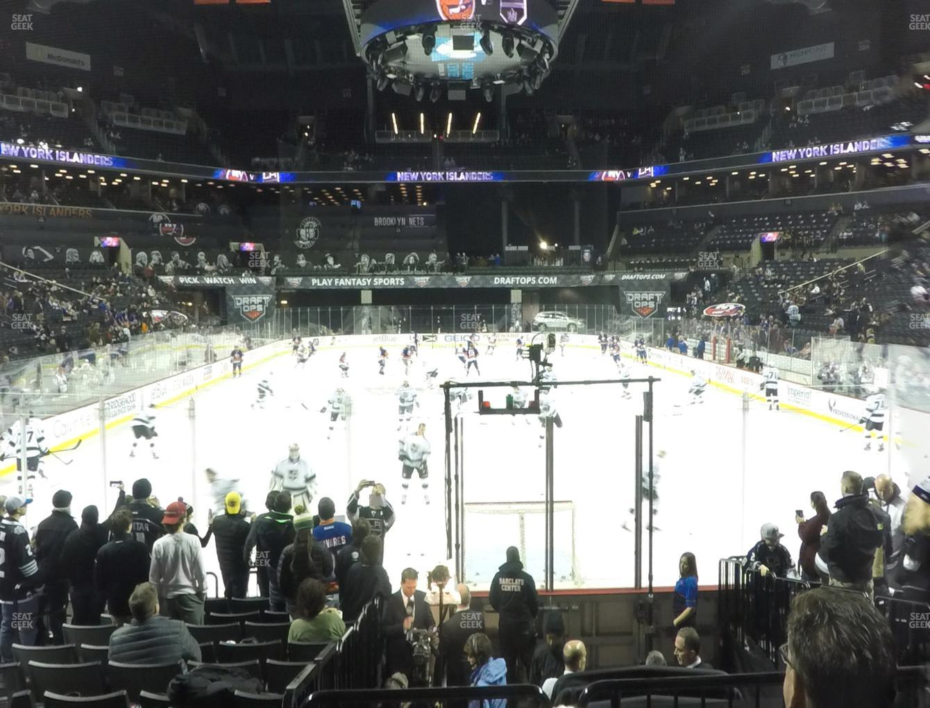 New York Islanders at Barclays Center Section 16 View