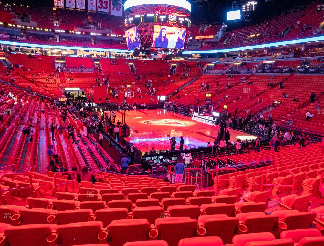 American Airlines Arena Section 114