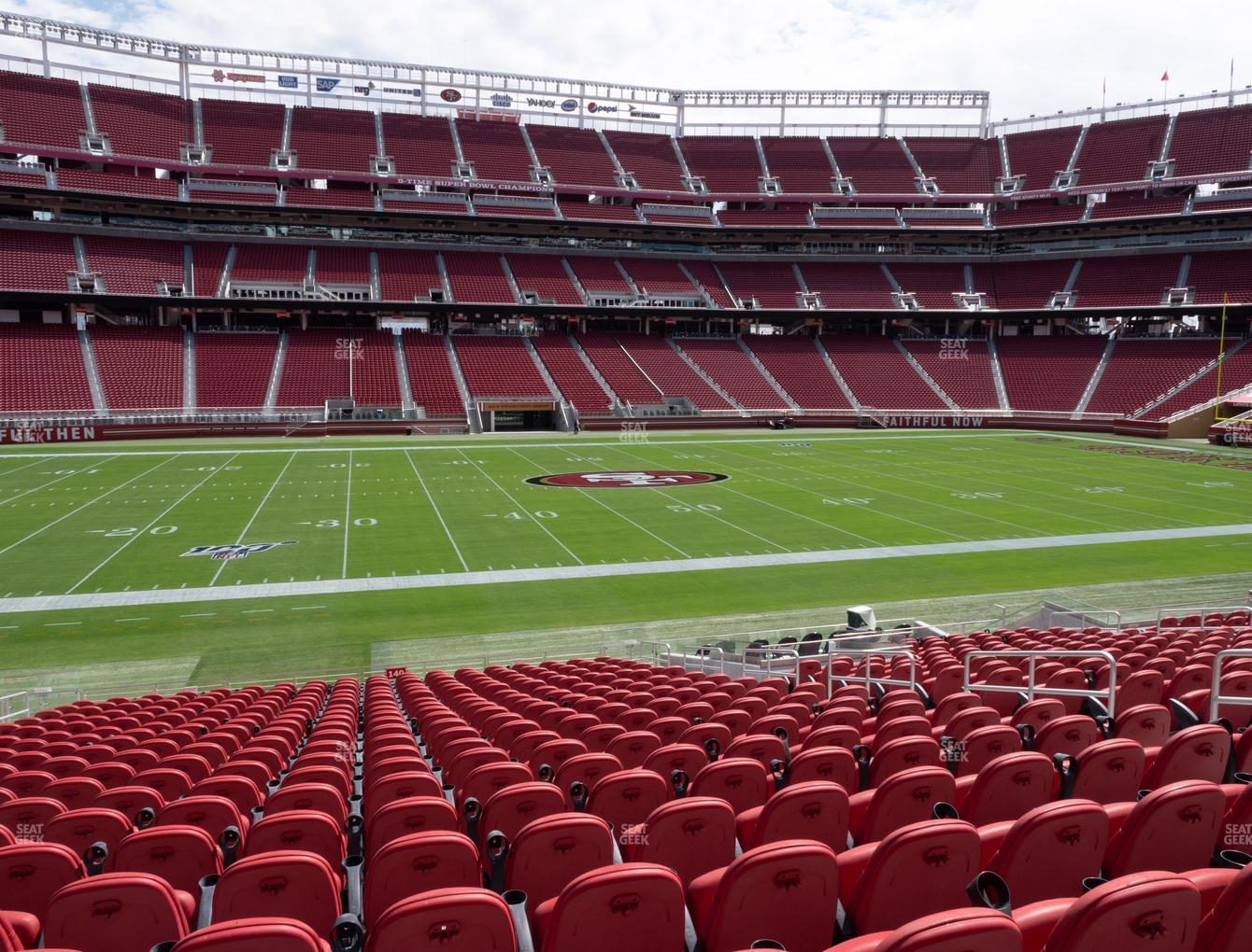 San Francisco 49ers at Levi's Stadium Section C 140 View