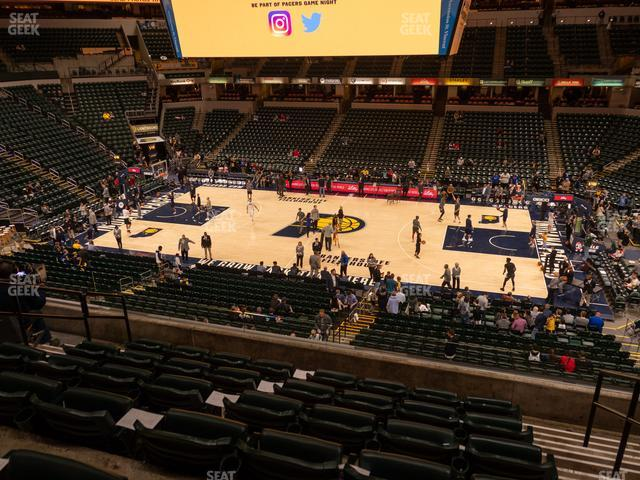 Bankers Life Fieldhouse Section 116 view