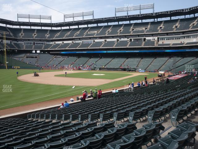 Globe Life Park Section 14 view