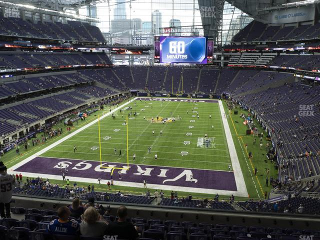 U.S. Bank Stadium Section 222 view