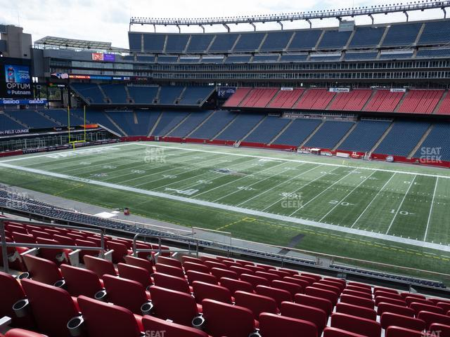 Gillette Stadium Section Club 6 view
