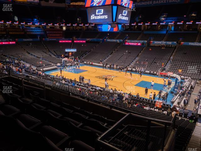 Chesapeake Energy Arena Section 221 view