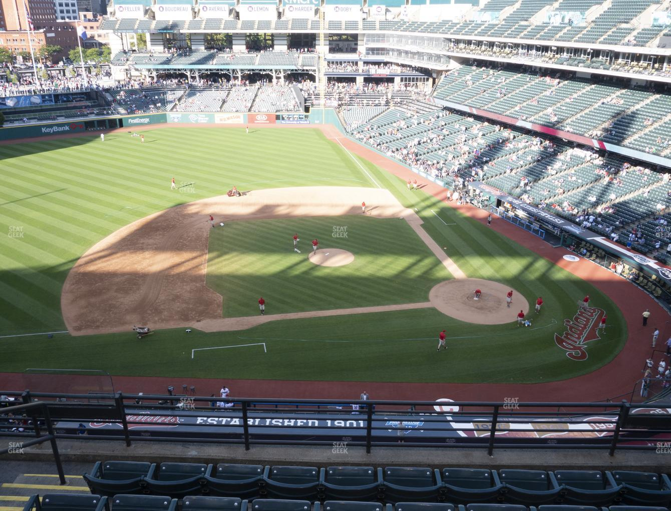 Cleveland Indians at Progressive Field Section 461 View