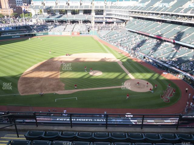 Progressive Field Section 461 view