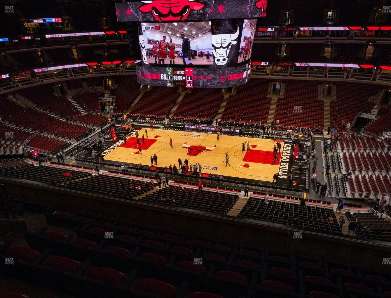 Chicago Bulls at United Center Section 316 View