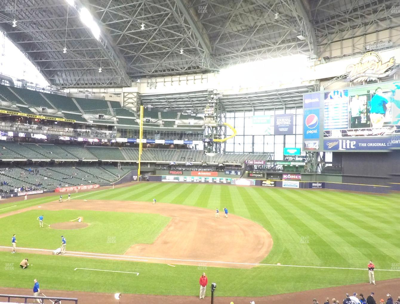 Milwaukee Brewers at American Family Field Section 212 View