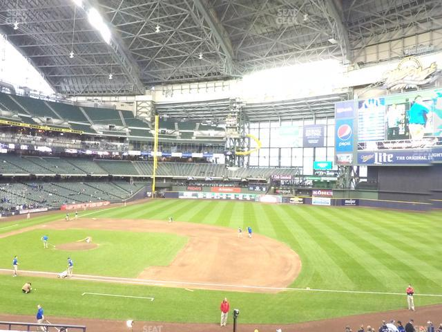 Miller Park Section 212 view