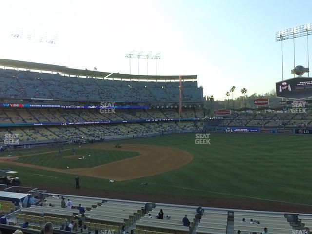Dodger Stadium Loge Box 148 view
