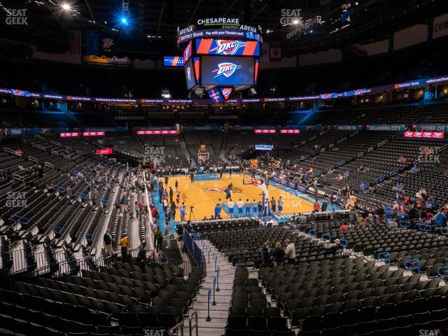 Chesapeake Energy Arena Lower Terrace 202 view