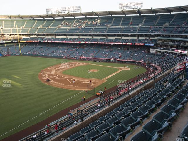 Angel Stadium of Anaheim Section 408 view