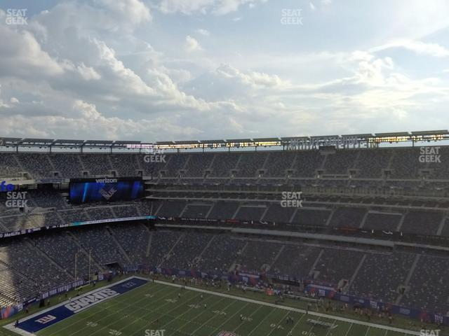 MetLife Stadium Section 310 view