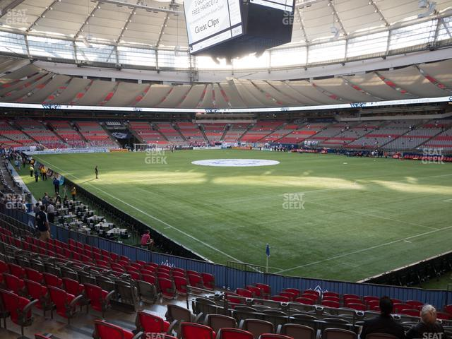 BC Place Stadium Section 234 view