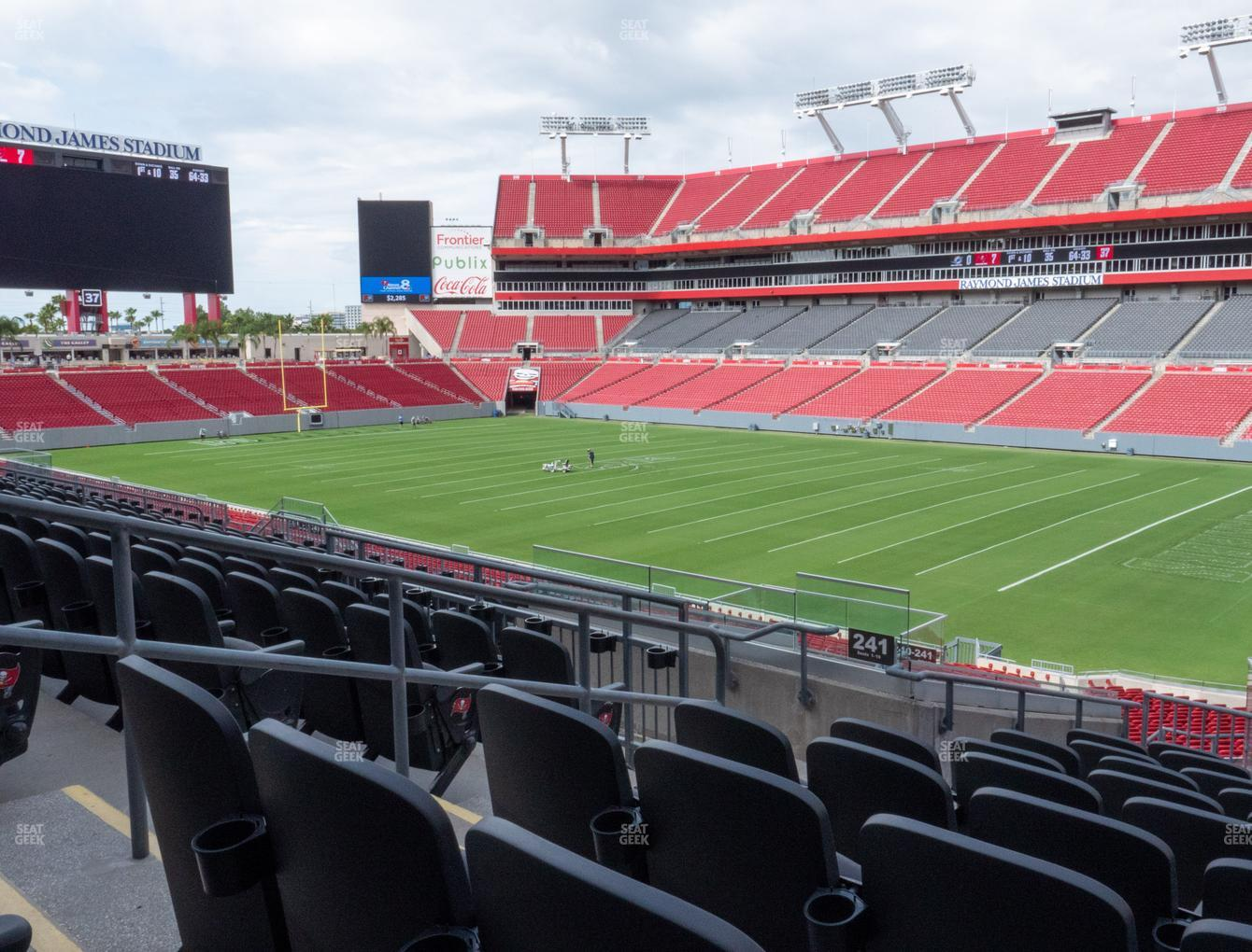 Raymond James Stadium Section 241 Seat Views Seatgeek