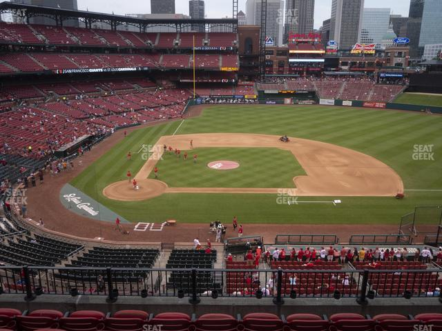 Busch Stadium Infield Redbird Club 245 view