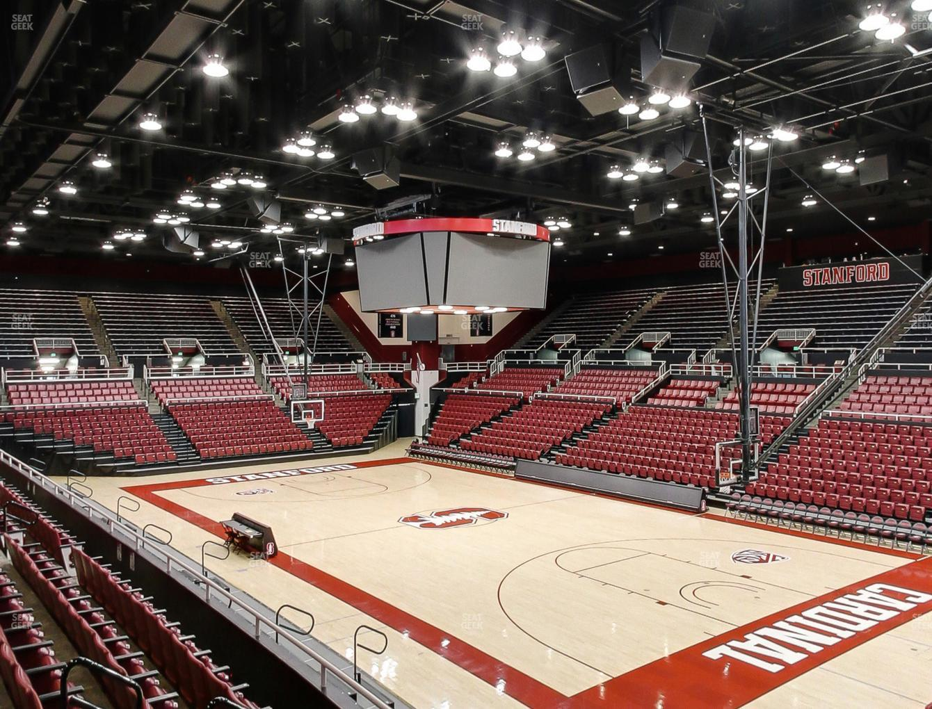 Stanford Cardinal Basketball at Maples Pavilion Section 13 View