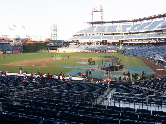 Citizens Bank Park Section 127 view