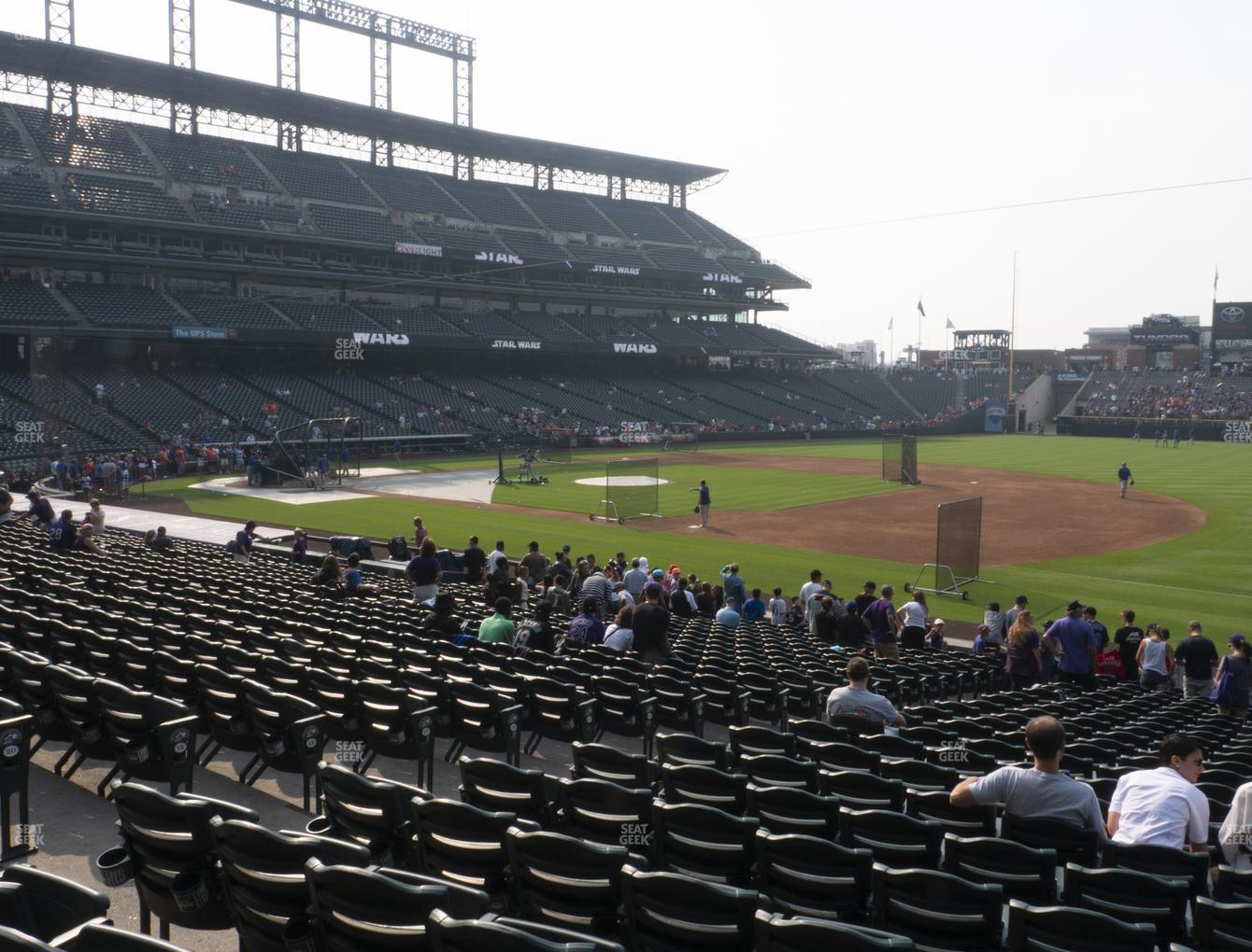 Colorado Rockies at Coors Field Section 119 View