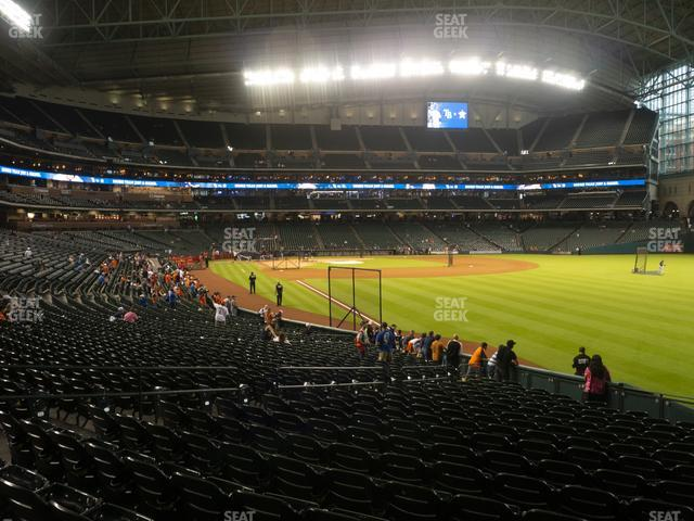 Minute Maid Park Section 134 view