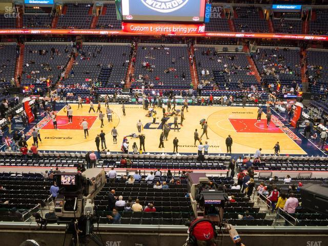 Capital One Arena Section 215 view