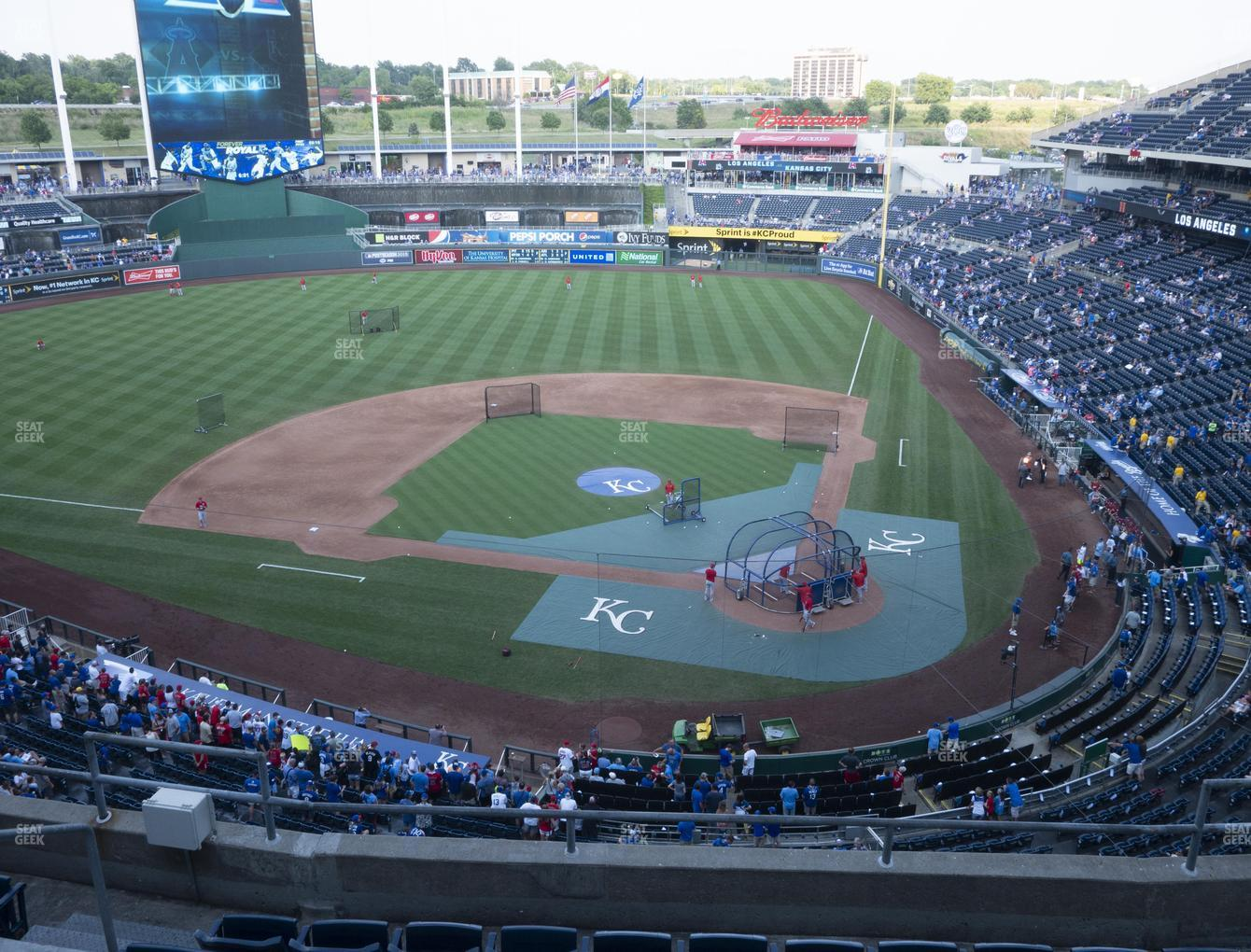 Kansas City Royals at Kauffman Stadium Section 415 View