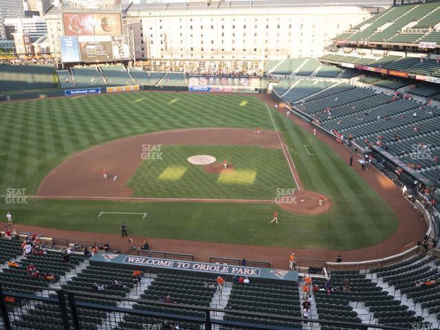 Oriole Park at Camden Yards Section 350 view