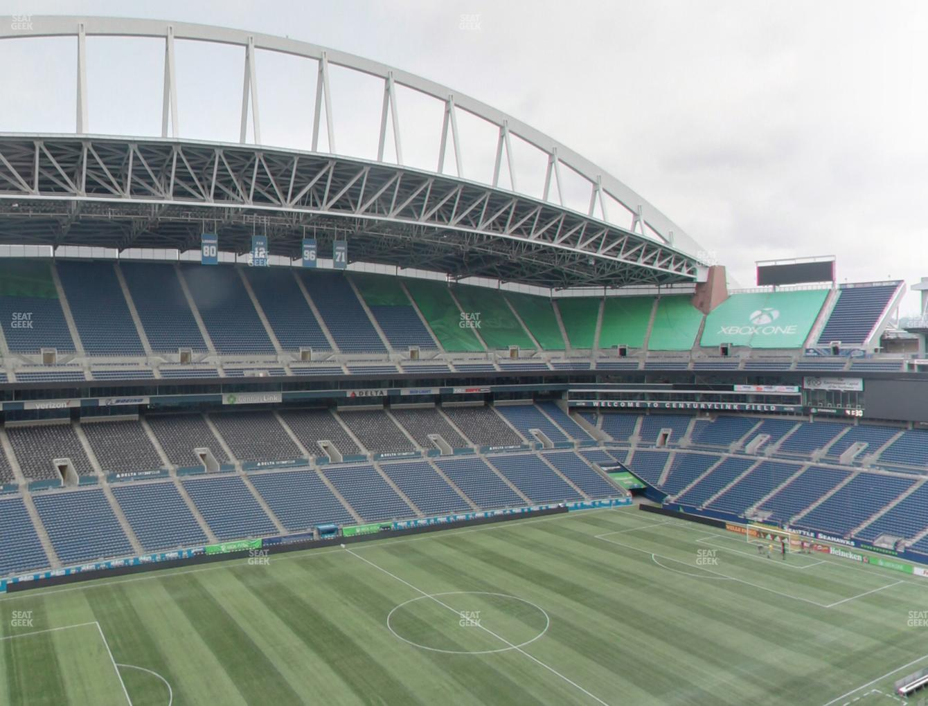 Seattle Sounders FC at CenturyLink Field Upper 339 View