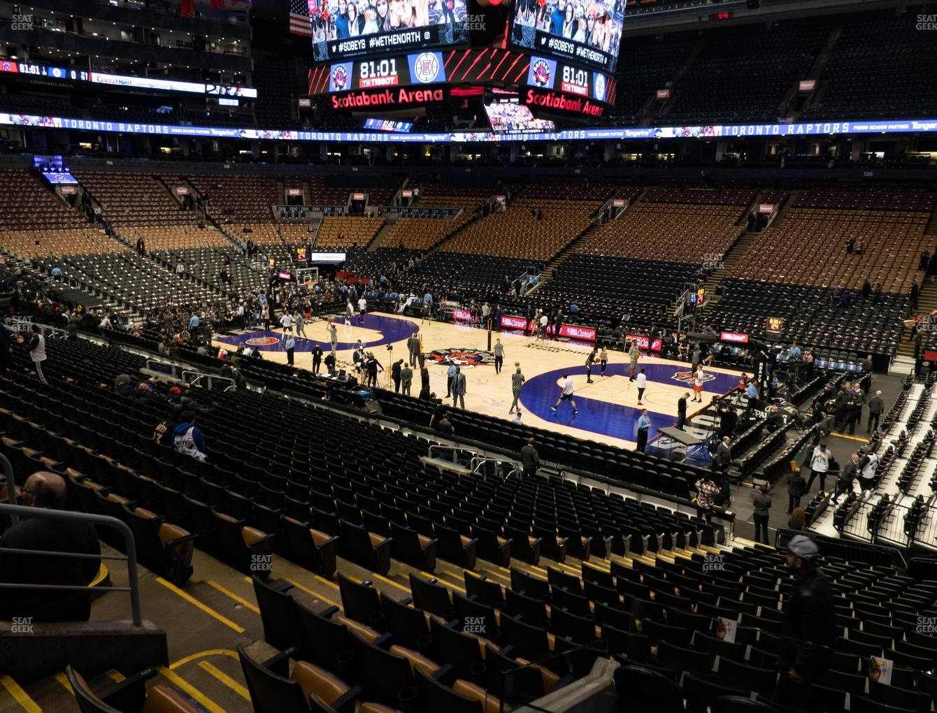 Toronto Raptors at Scotiabank Arena Section 106 View