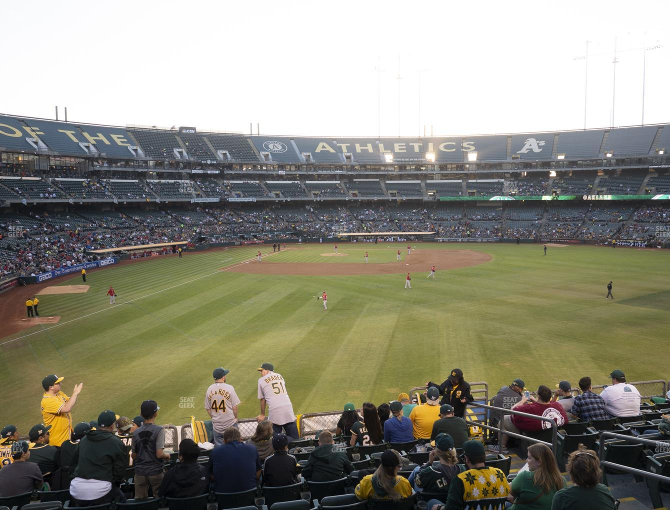 Oakland Athletics at RingCentral Coliseum Section 149 View