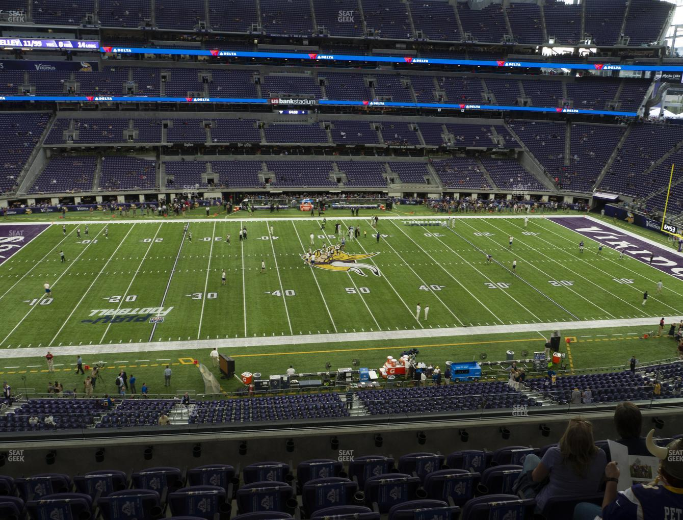 Minnesota Vikings at U.S. Bank Stadium Section C 4 View