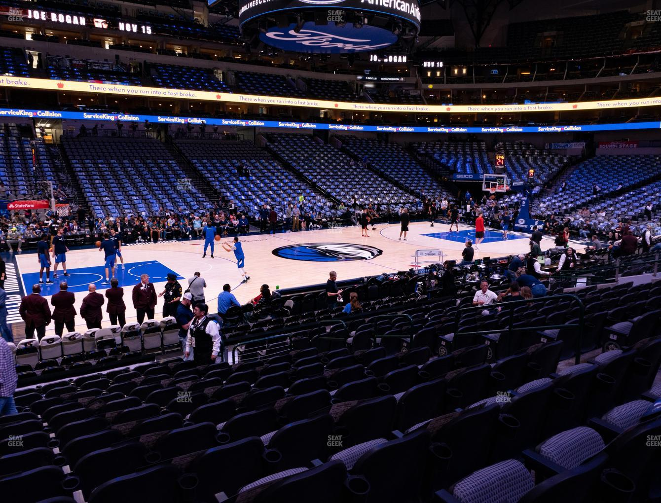 Dallas Mavericks at American Airlines Center Section 120 View