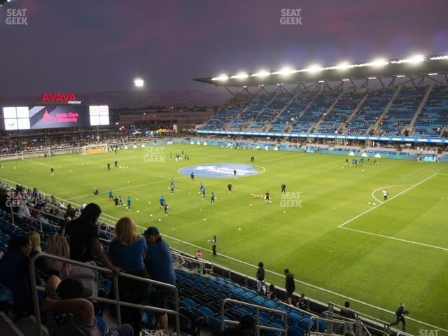 Earthquakes Stadium Section 112 view