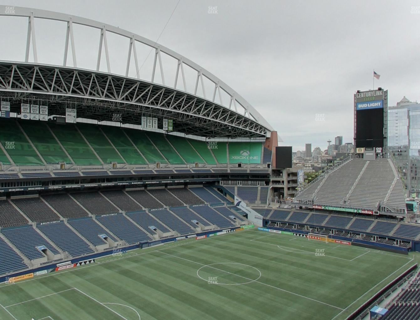 Seattle Sounders FC at CenturyLink Field Upper 316 View