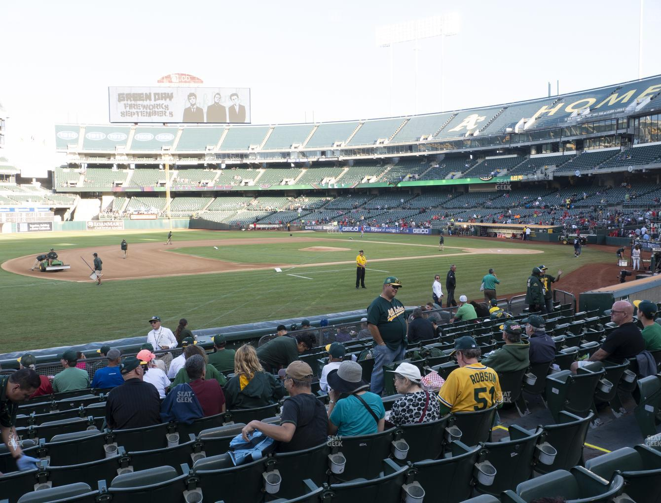 Oakland Athletics at RingCentral Coliseum Section 124 View