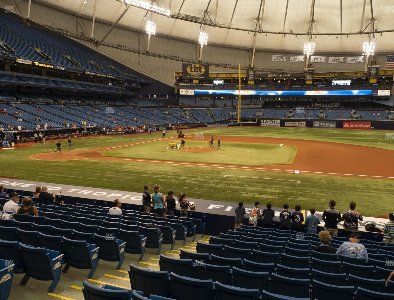 Tampa Bay Rays at Tropicana Field Section 118 View