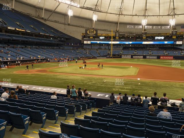 Tropicana Field Section 118 view