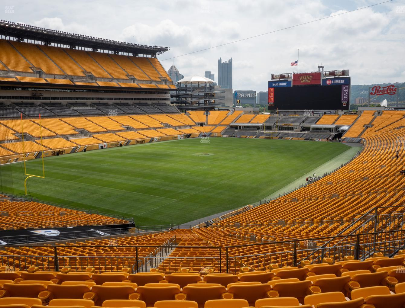 Pittsburgh Steelers at Heinz Field Section 227 View