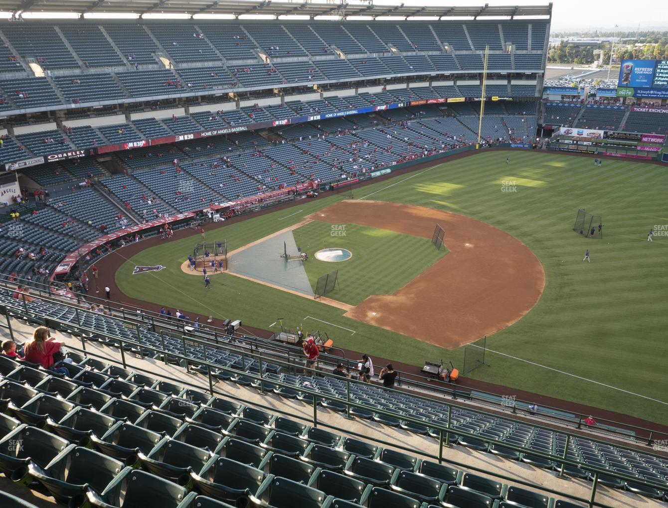 Los Angeles Angels at Angel Stadium of Anaheim Section 530 View
