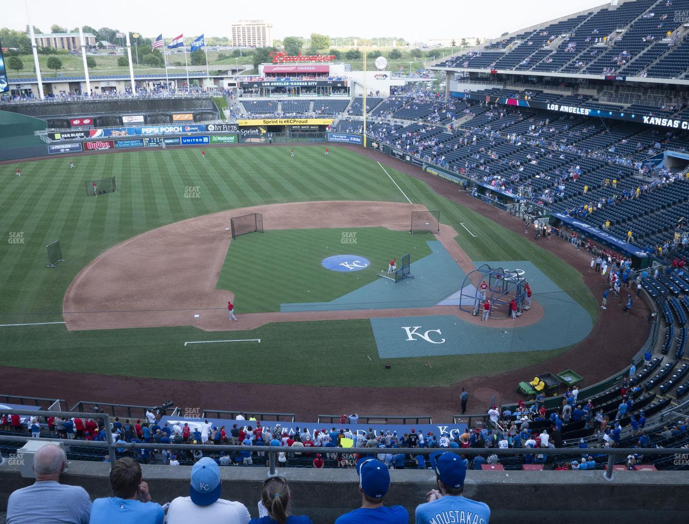 Kansas City Royals at Kauffman Stadium Section 412 View