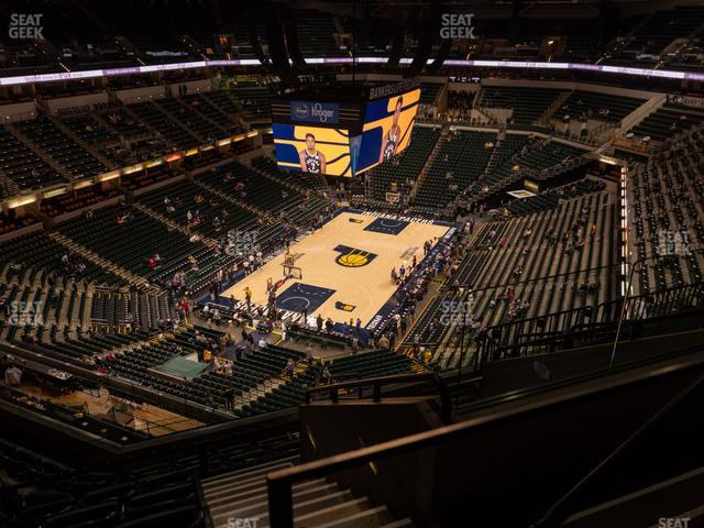 Bankers Life Fieldhouse Section 214 view