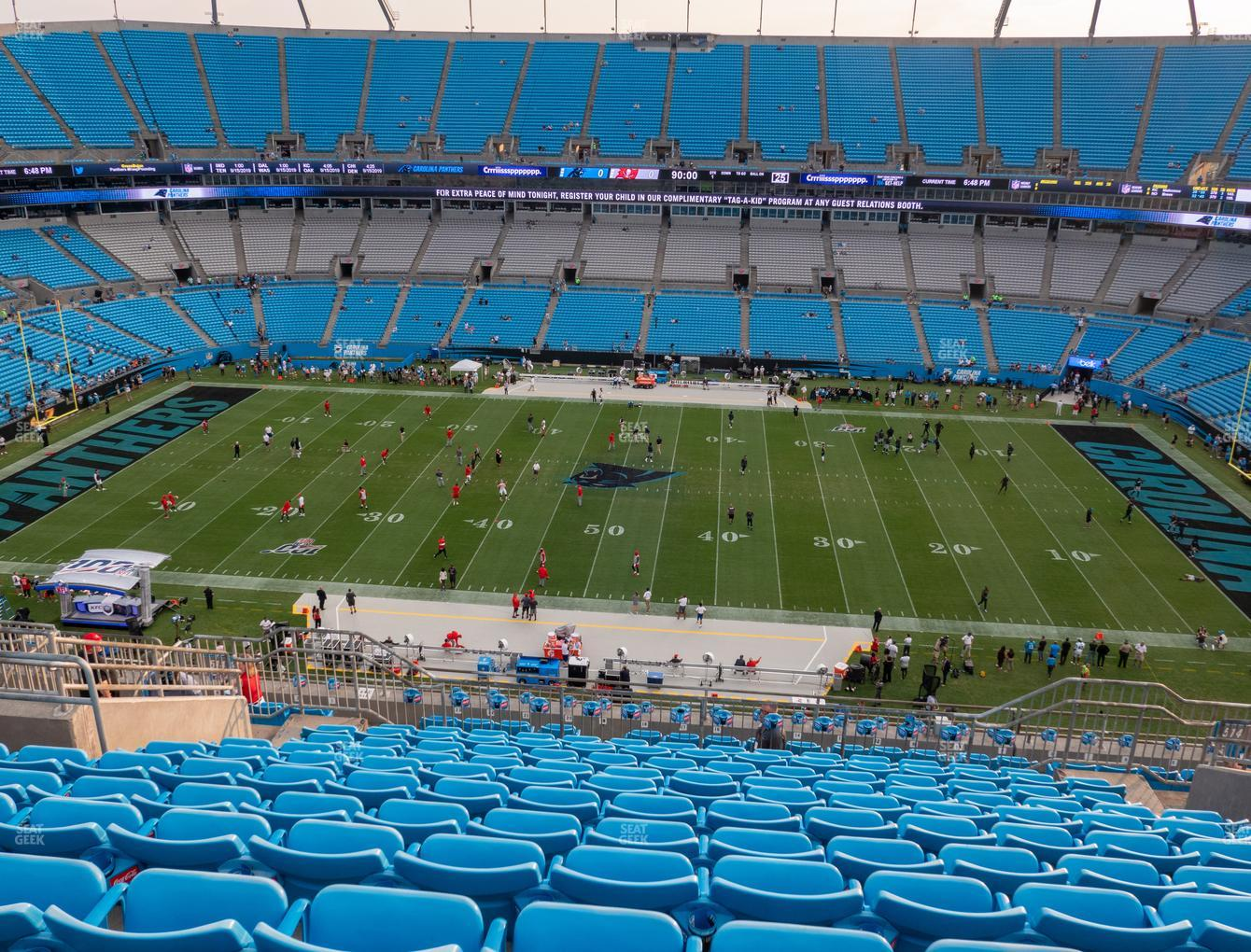 Carolina Panthers at Bank of America Stadium Section 514 View