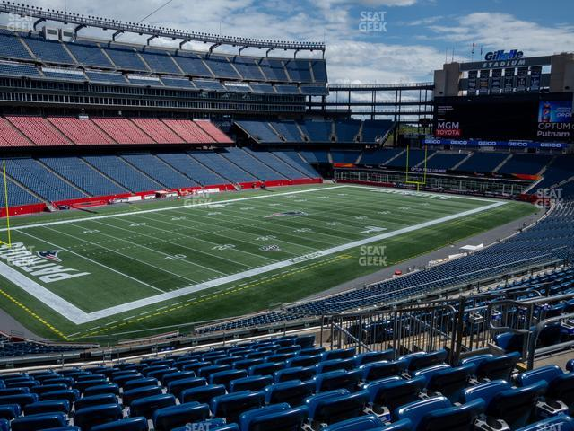 Gillette Stadium Section 237 view