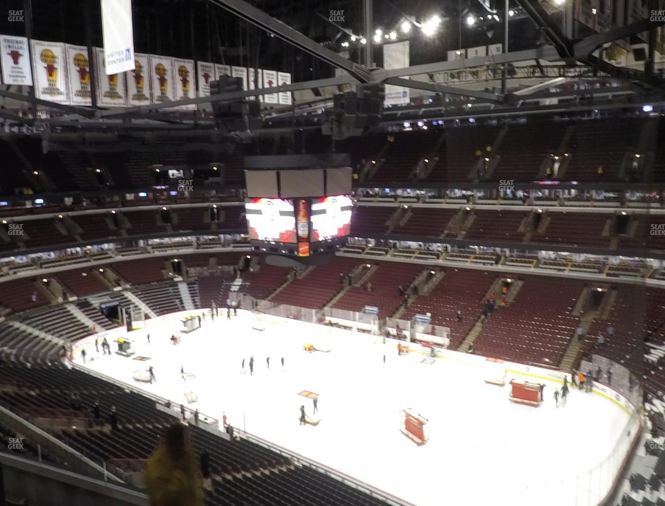 Chicago Blackhawks at United Center Section 314 View