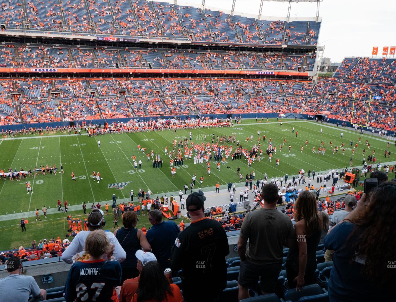 Denver Broncos at Empower FIeld at Mile High Section 313 View