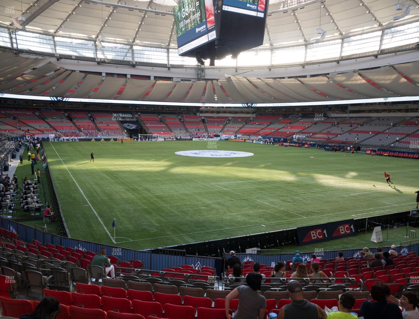 Vancouver Whitecaps FC at BC Place Stadium Section 233 View