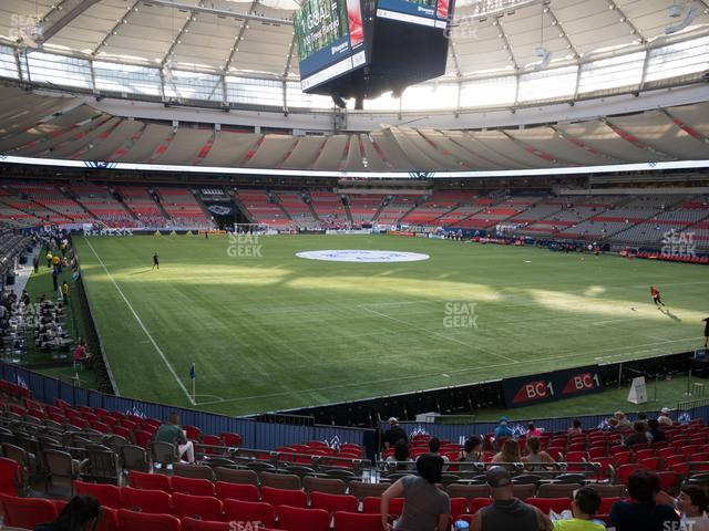 BC Place Stadium Section 233 view