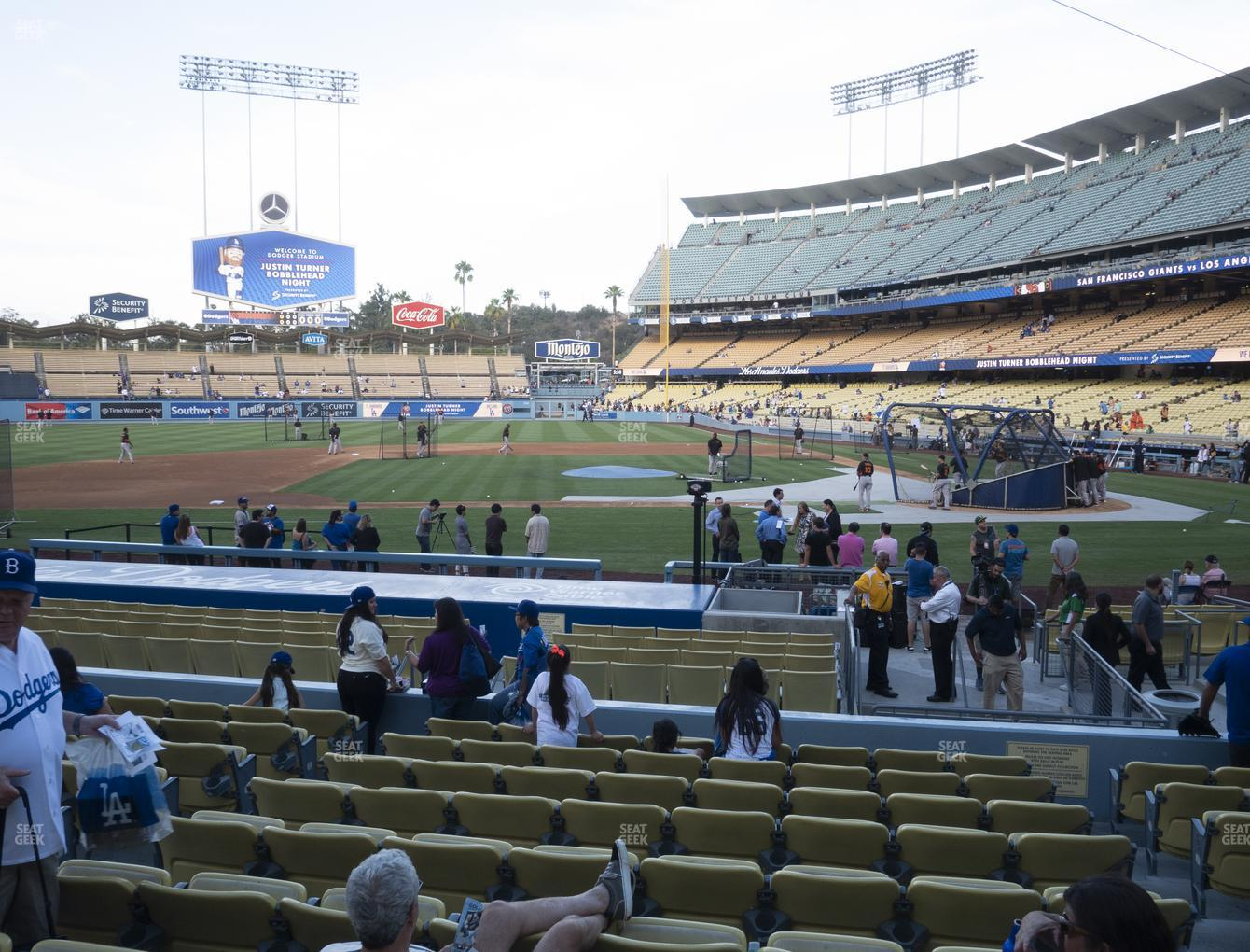 Los Angeles Dodgers at Dodger Stadium Field Box 15 View