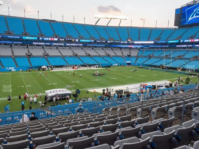 Bank of America Stadium Section 319 view
